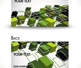 Dynamic Brilliant Card background vector 05