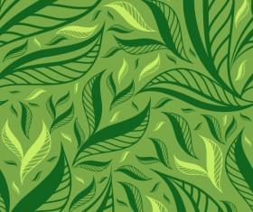Green Leaf background vector 01
