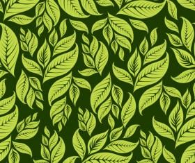 Green Leaf background vector 03