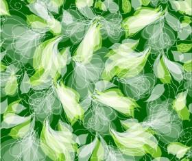 Green Leaf background vector 04