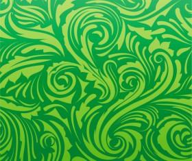 Green Leaf background vector 05
