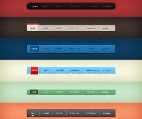 Webpage navigation Design Set