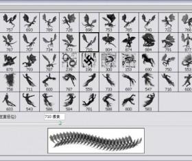 Dinosaurian ,Horse,personage brushes Set