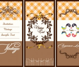 Illustration card background 01 vector