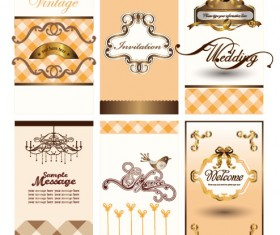 Illustration card background 02 vector