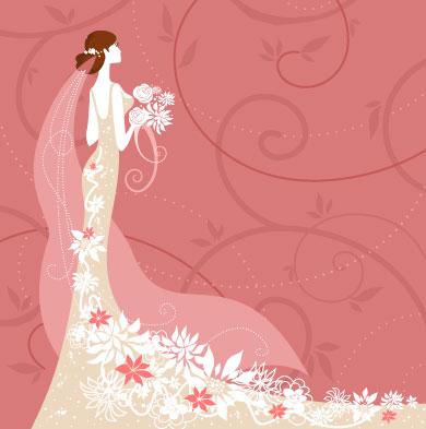 Wedding card background 02 vector