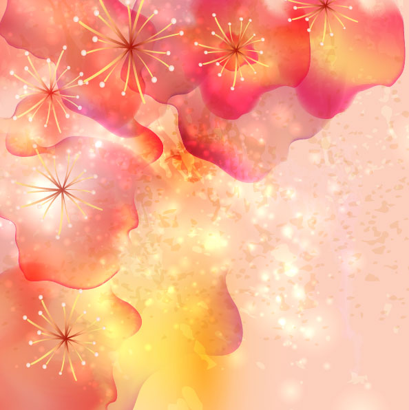 Brilliant Petal background vector 01