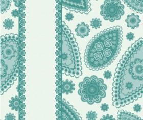 Fine decorative patterns background 01 vector