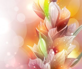 Brilliant Petal background vector 03