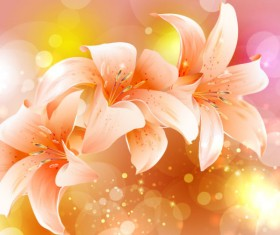 Brilliant Petal background vector 05