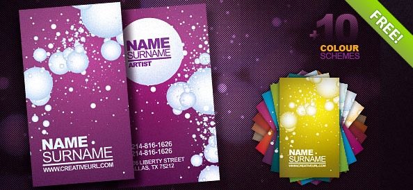Artist Business Card PSD
