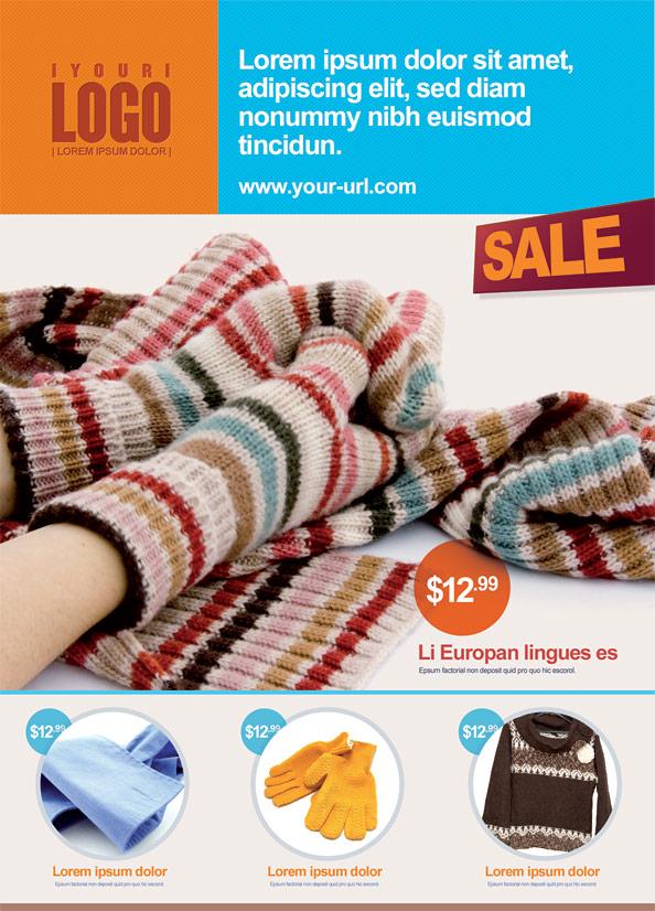 Retail Marketing Postcard PSD Template
