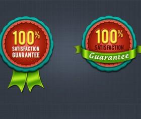 Satisfaction guarantee badge seal Icons