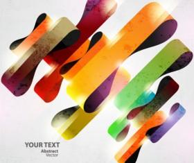 Dynamic Halation Color bar background vector 01