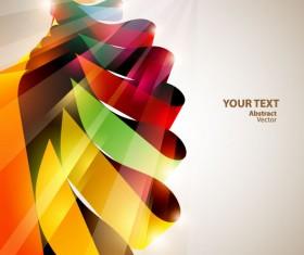 Dynamic Halation Color bar background vector 02