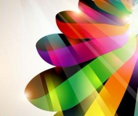 Dynamic Halation Color bar background vector 03