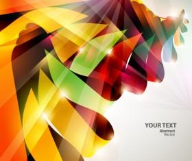Dynamic Halation Color bar background vector 04