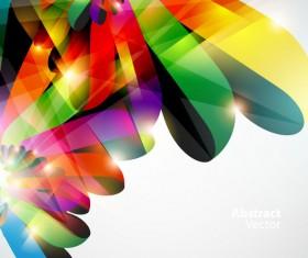 Dynamic Halation Color bar background vector 05