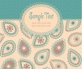 Fine decorative patterns background 05 vector