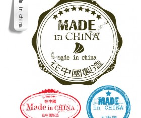 free Vector Made in China label 05