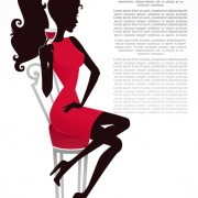 Link toFree vector fashion belle silhouettes 01