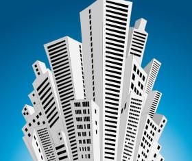 Business Buildings Design vector 02