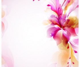 free vector Halation with Flowers background 01
