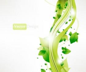 Halation leaf background 03 vector