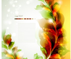 free vector Halation with Flowers background 02