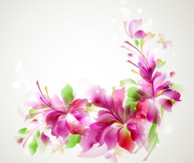 free vector Halation with Flowers background 03
