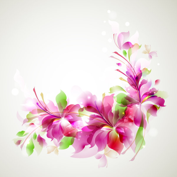 Free EPS file free vector Halation with Flowers background 03 download
