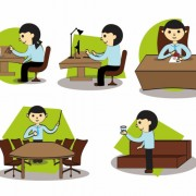 Link toCartoon office setting free vector graphics