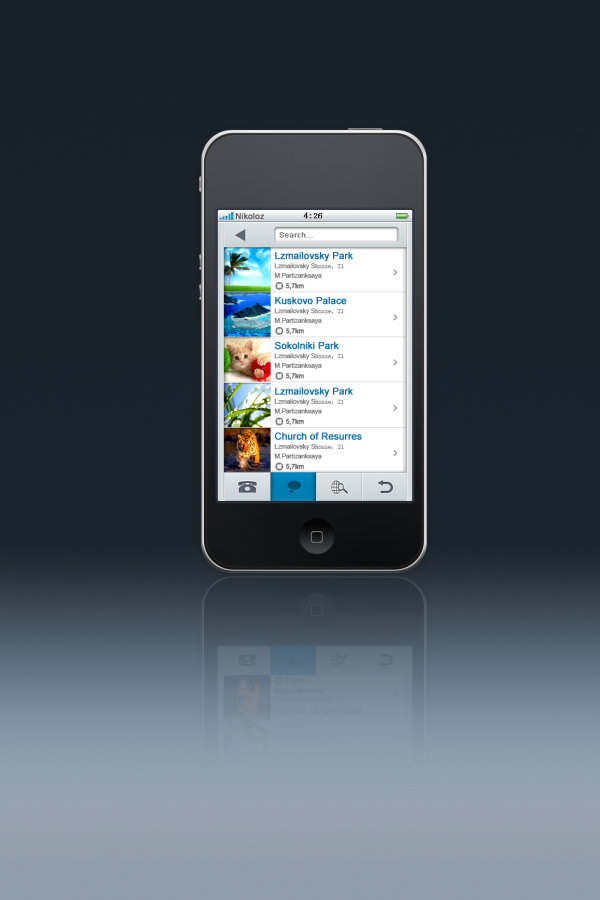free vector iPhone4 s Interface design