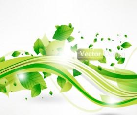 Halation leaf background 04 vector
