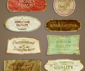 European style Exquisite Retro Label 02 free vector