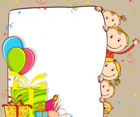 free vector Cartoon Primary school students Illustration 01