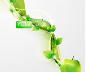 Halation leaf background 05 vector