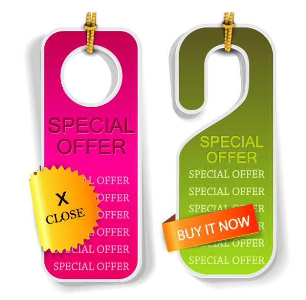 Classic Hangtag Template Vector Graphics   Over Millions
