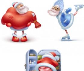 Happy Santas free icons