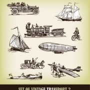 Link toEuropeanstyle handdrawn transport carrier 03 vector