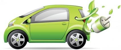 Green small cars vector