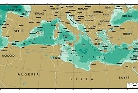 Vector map of the world exquisite the mediterranean map