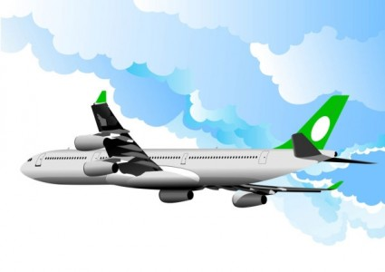 realistic aircraft 03 vector free download