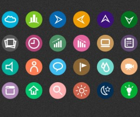 Flat useful web Icons