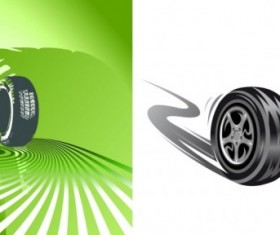 Running Tire vector