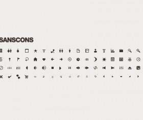 Sanscons icons