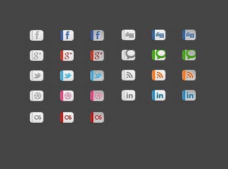 Psd social media Free icons