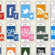 Link toIphone social icons