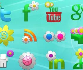 Spring Social Icons Set