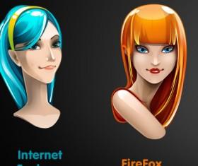 Girls Avatar icons